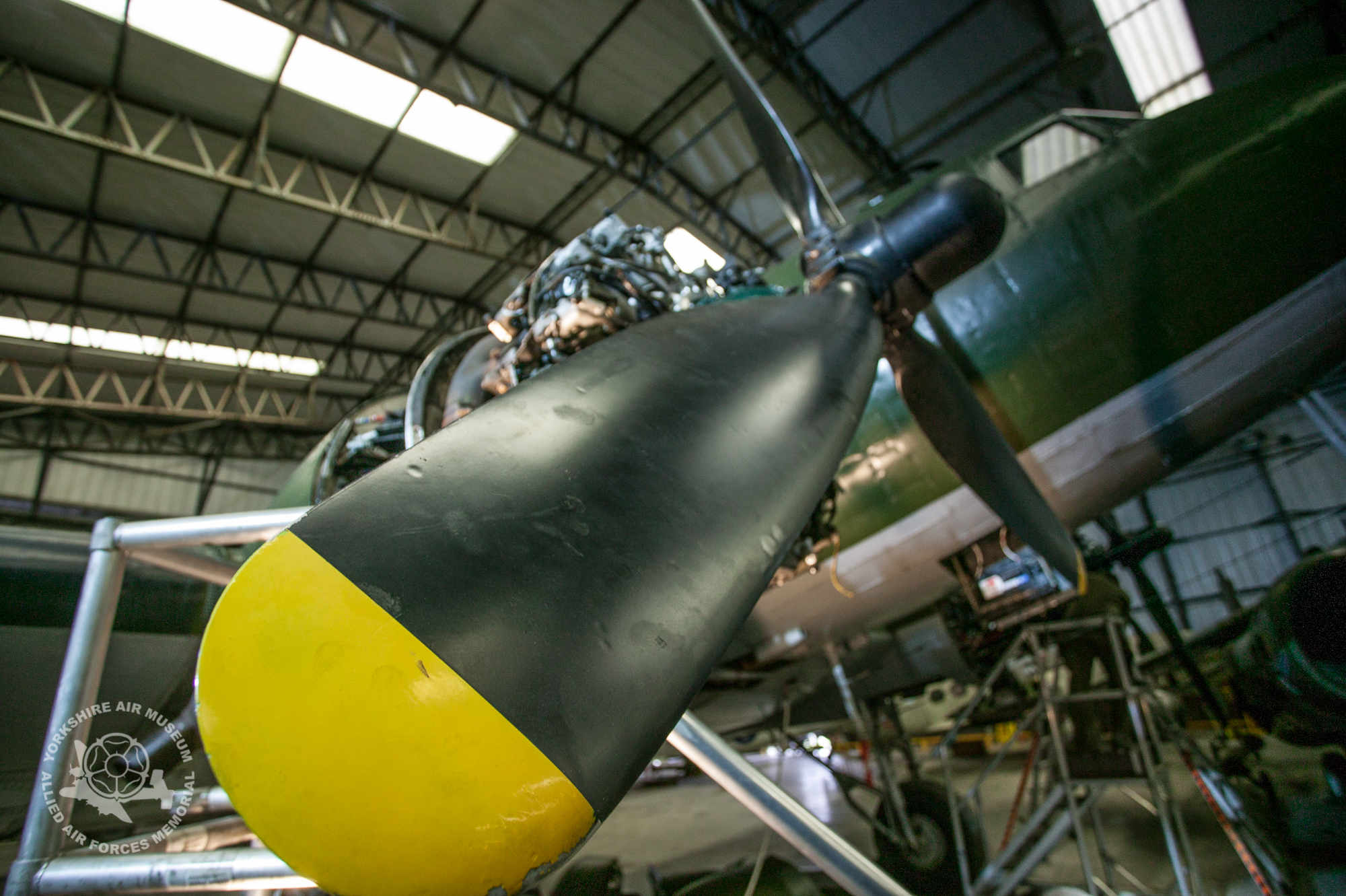 Gaining access to big radial engines can be rather complicated