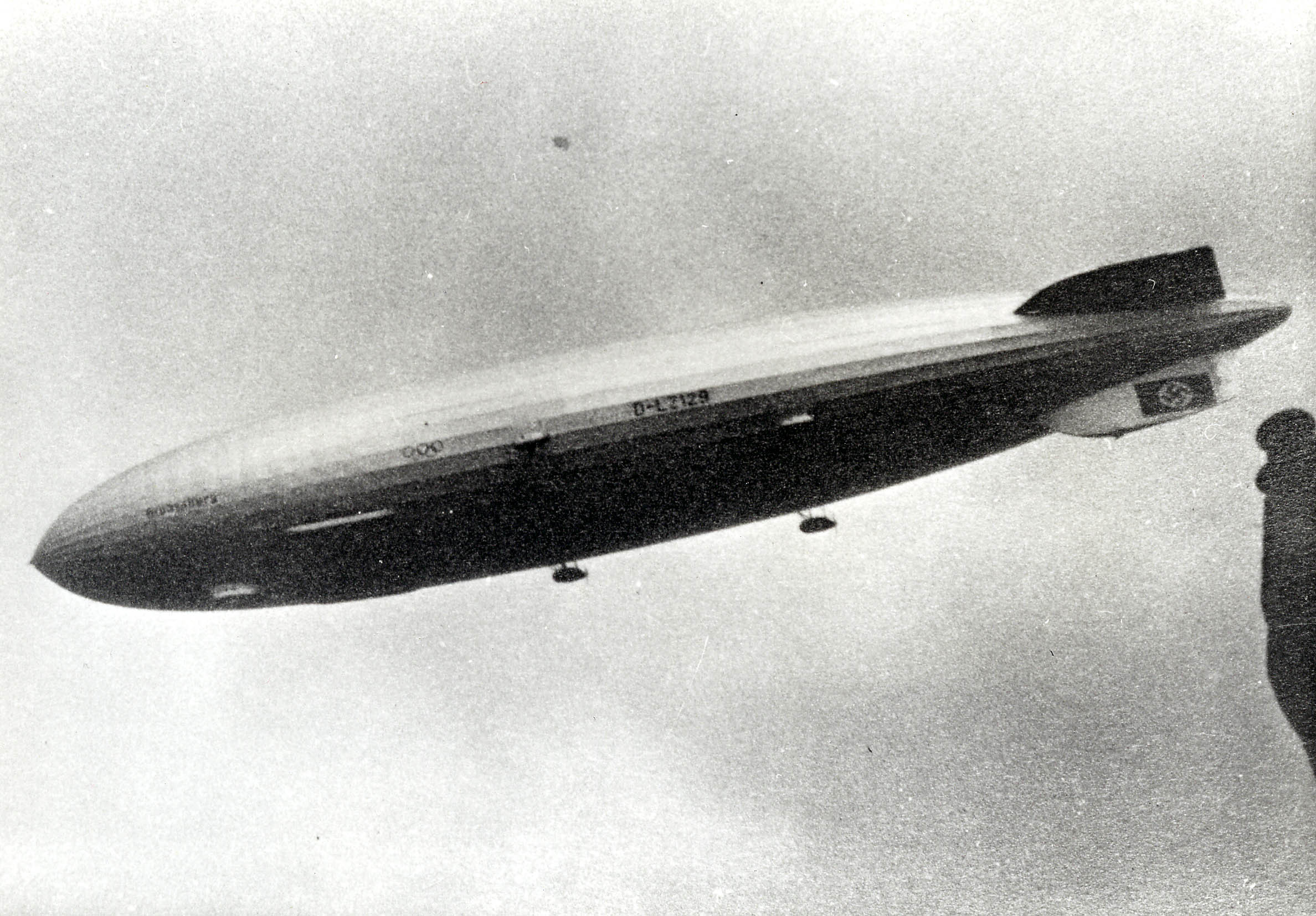 The Hindenburg photographed over Riddlesden