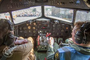 On board the C47 with Graham and Andre
