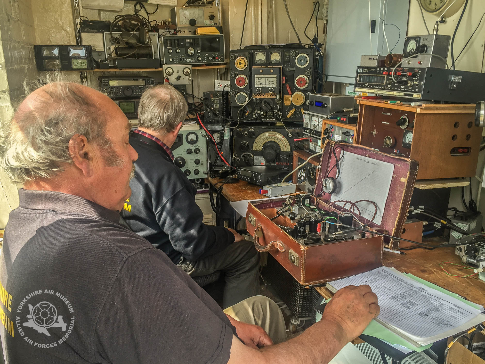 The radio room's fascinating period equipment, all still fully functioning