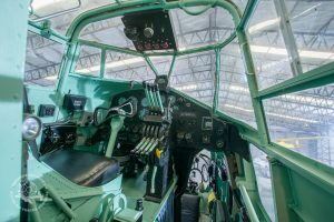 Our Friday the 13th cockpit - you can take a tour of the Halifax