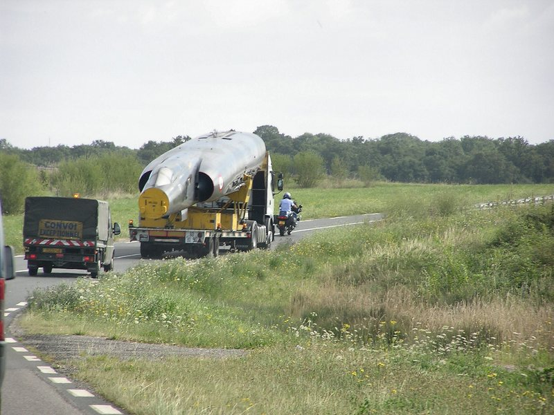 Transporting a Mirage IV by road will be a big task.